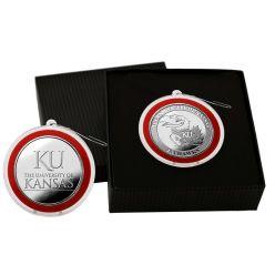 University of Kansas Silver Coin Ornament