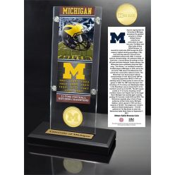 University of Michigan Ticket & Bronze Coin Acrylic Desk Top