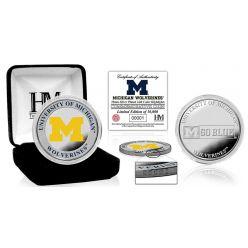 University of Michigan Color Silver Coin