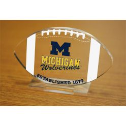 University of Michigan Etched Football Acrylic