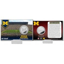 University of Michigan Team History Silver Coin Card