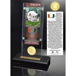 University of Miami Ticket & Bronze Coin Acrylic Desk Top