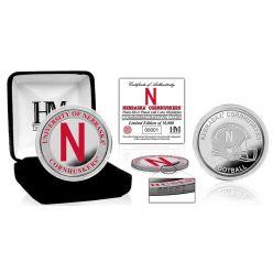University of Nebraska Color Silver Coin
