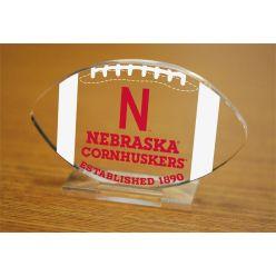 University of Nebraska Etched Football Acrylic