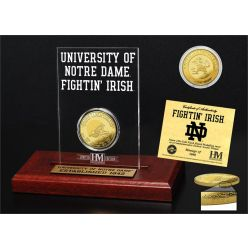 University of Notre Dame 11-Time National Champions Gold Coin Etched Acrylic