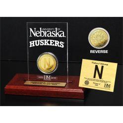 University of Nebraska Gold Coin Etched Acrylic