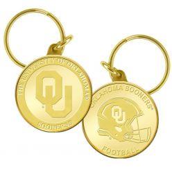 University of Oklahoma Bronze Coin Keychain