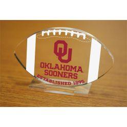 University of Oklahoma Etched Football Acrylic