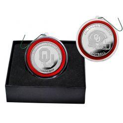 University of Oklahoma Silver Coin Ornament