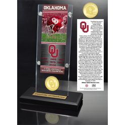 University of Oklahoma Ticket & Bronze Coin Acrylic Desk Top