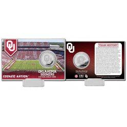 University of Oklahoma Team History Silver Coin Card