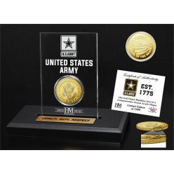 United States Army Gold Coin Etched Acrylic