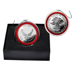 United States Air Force Silver Mint Coin Ornament