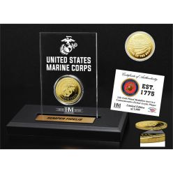 United States Marines Gold Coin Etched Acrylic