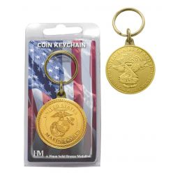 United States Marines Bronze Coin Keychain