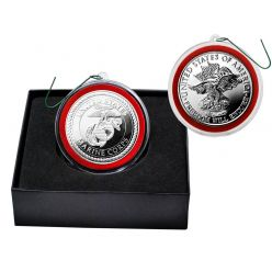 United States Marines Silver Mint Coin Ornament