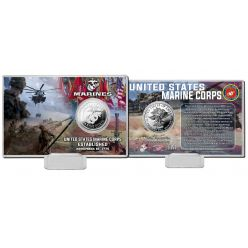 United States Marines Silver Coin Card