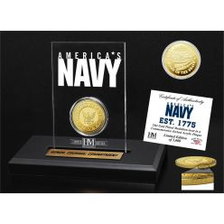 United States Navy Gold Coin Etched Acrylic