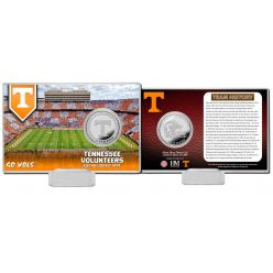 University of Tennessee Team History Silver Coin Card