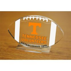 University of Tennessee Etched Football Acrylic
