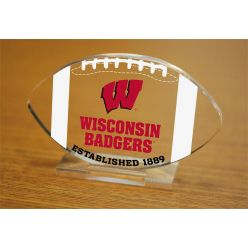 University of Wisconsin Etched Football Acrylic