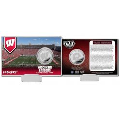 University of Wisconsin Team History Silver Coin Card