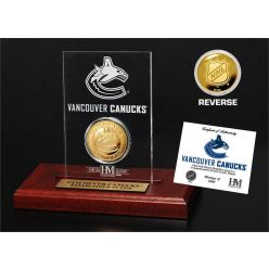 Vancouver Canucks 24kt Gold Coin Etched Acrylic