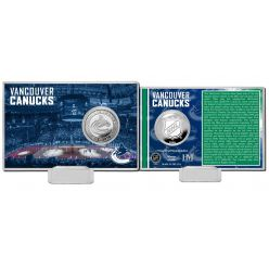Vancouver Canucks History Silver Coin Card