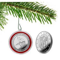 Minnesota Vikings Silver Coin Orna-Mint