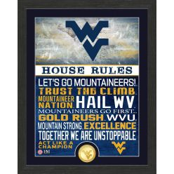 West Virginia University Mountaineers House Rules Bronze Coin Photo Mint