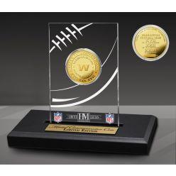 Washington Football Team 3x Super Bowl Champions Gold Coin with Acrylic Display