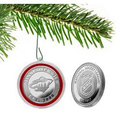 Minnesota Wild Silver Coin Ornament