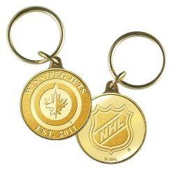 Winnipeg Jets Bronze Keychain