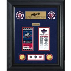 Washington Nationals 1-Time World Series Champions Gold Coin & Ticket Collection