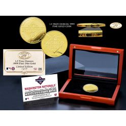 Washington Nationals 2019 World Series Champions 1.5 Troy Oz .9999 Pure Gold Coin
