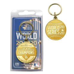 Los Angeles Dodgers 2020 World Series Champions Bronze Coin Keychain