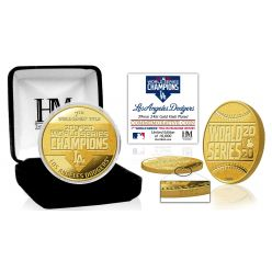 Los Angeles Dodgers 2020 World Series Champions Gold Mint Coin