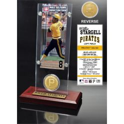 "Willie Stargell ""Hall of Fame"" Ticket & Bronze Coin Acrylic Desk Top"
