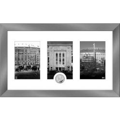 New York Yankees Panoramic Art Deco Silver Coin Photo Mint