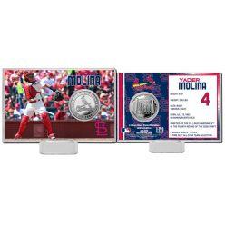 Yadier Molina Silver Coin Card