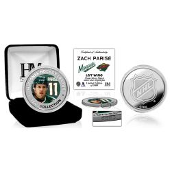 Zach Parise Color Silver Coin