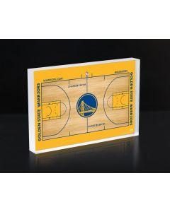 Golden State Warriors Court 3D Acrylic Block
