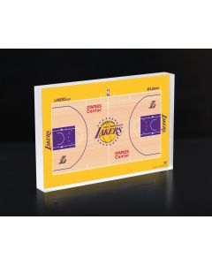 Los Angeles Lakers Court 3D Acrylic Block