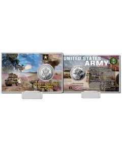 United States Army Silver Coin Card