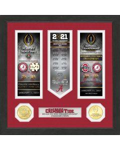 Alabama Crimson Tide 2020/21 Football National Champions Road to The Championship Photo Mint