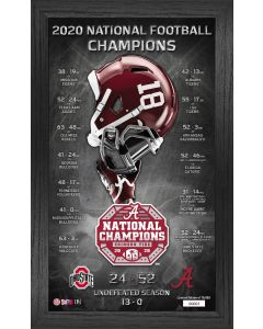 Alabama Crimson Tide 2020/21 Football National Champions Team Pride Pano