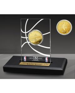 Golden State Warriors 6-Time Gold Coin Acrylic Desk Top