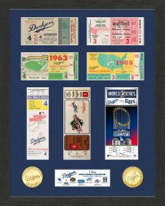 Los Angeles Dodgers 7-Time World Series Champions Ticket Collection