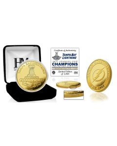 Tampa Bay Lightning 2021 NHL Stanely Cup Champions Gold Mint Coin