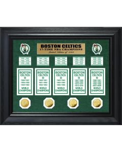 Boston Celtics 17-Time NBA Champions Deluxe Gold Coin & Banner Collection
